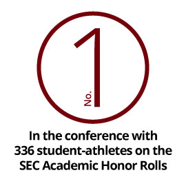No. 1 in the conference with 336 student-athletes on SEC Academic Honor Rolls