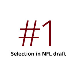 No. 1 Selection in NFL draft
