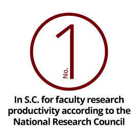 Infographic: No. 1 in S.C. for faculty research productivity according to the National Research Council