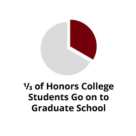 Infographic: 1/3 of Honors College students go on to graduate school