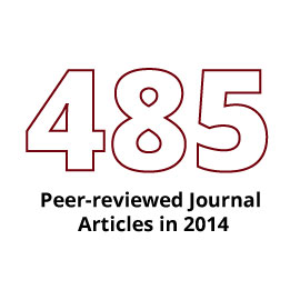 Infographic: 485 peer-reviewed journal articles in 2014