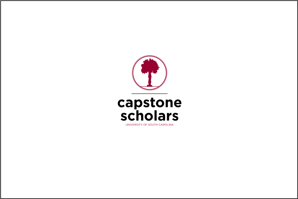 Capstone scholars logo on white background, with play button overlay
