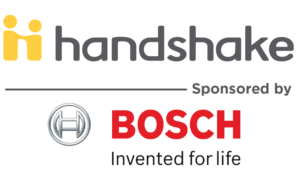 Handshake sponsored by Bosch