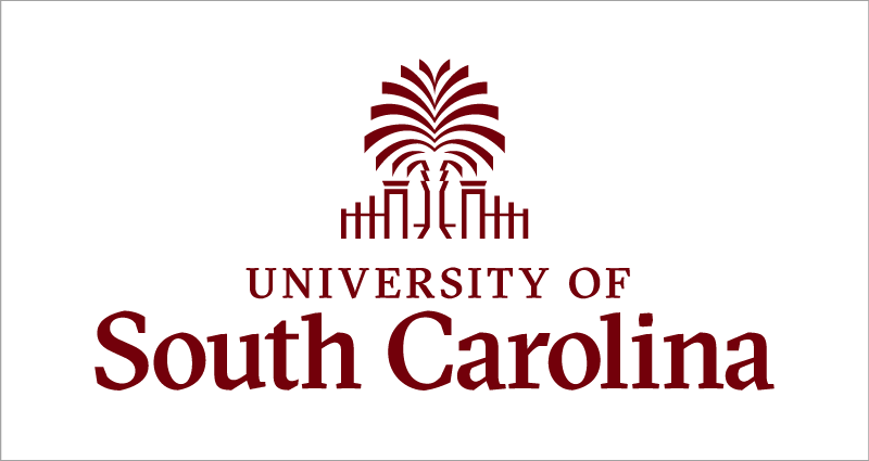 University of South Carolina formal logo - garnet on white