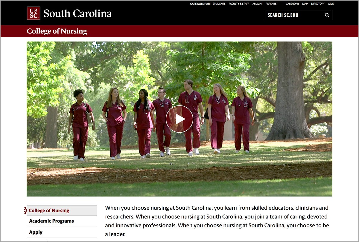 video home page banner example