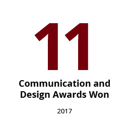 Infographic: 11 communications and design awards won within the last year