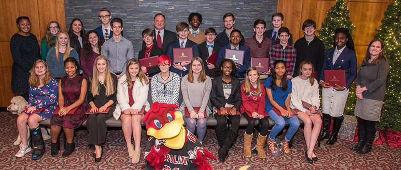 Group photo of the 2018 Carolina Master Scholars graduates