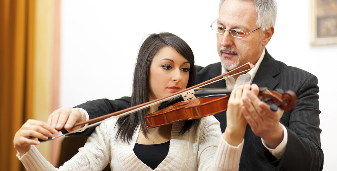 Music Professor with Student