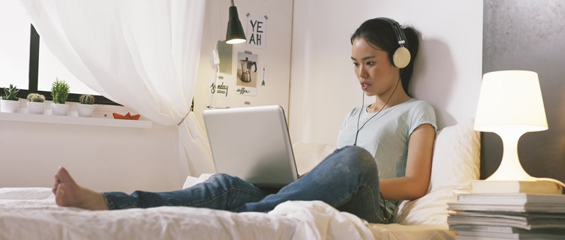 student online at home