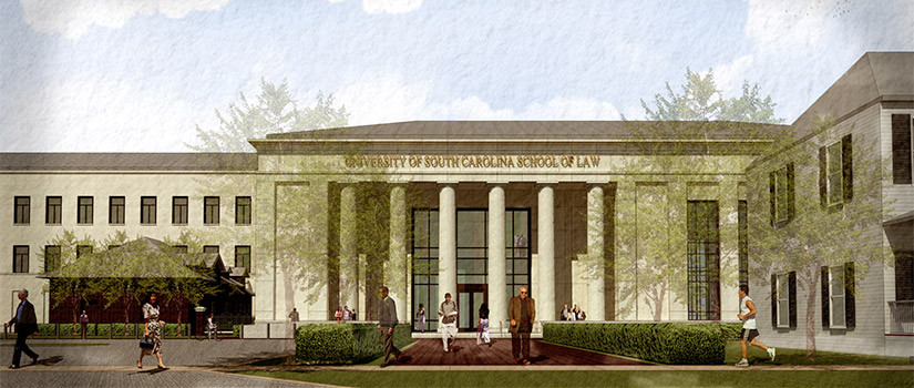 School of Law exterior rendering