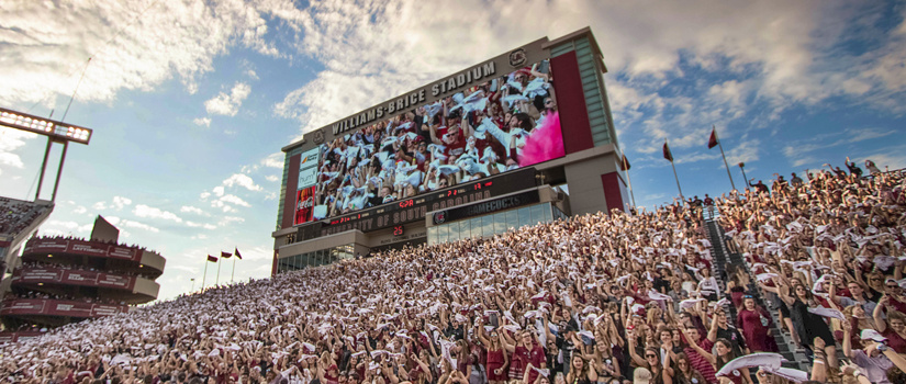 Student section in Williams Brice Stadium