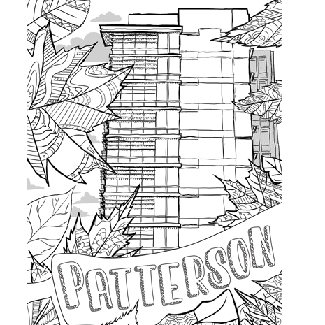 Patterson Hall Coloring Page