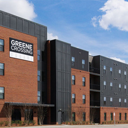 exterior of Greene Crossing apartments