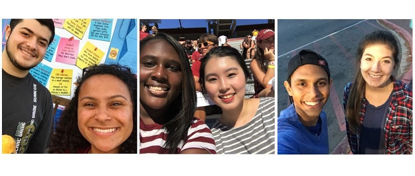 three images of USC students