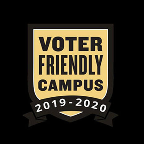voter-friendly campus award graphic
