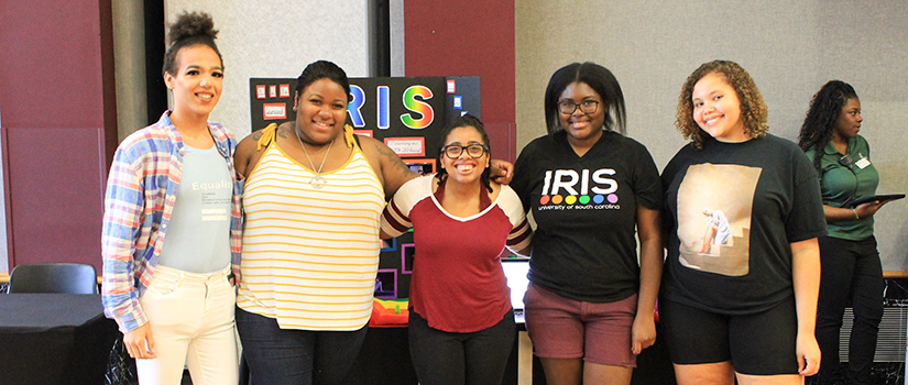 IRIS student organization representatives present at the welcome carnival.