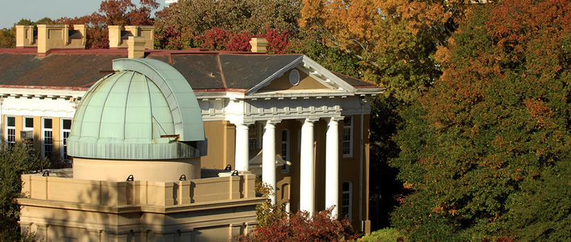 Skyline with Dome of Melton Observatory and front of Davis College