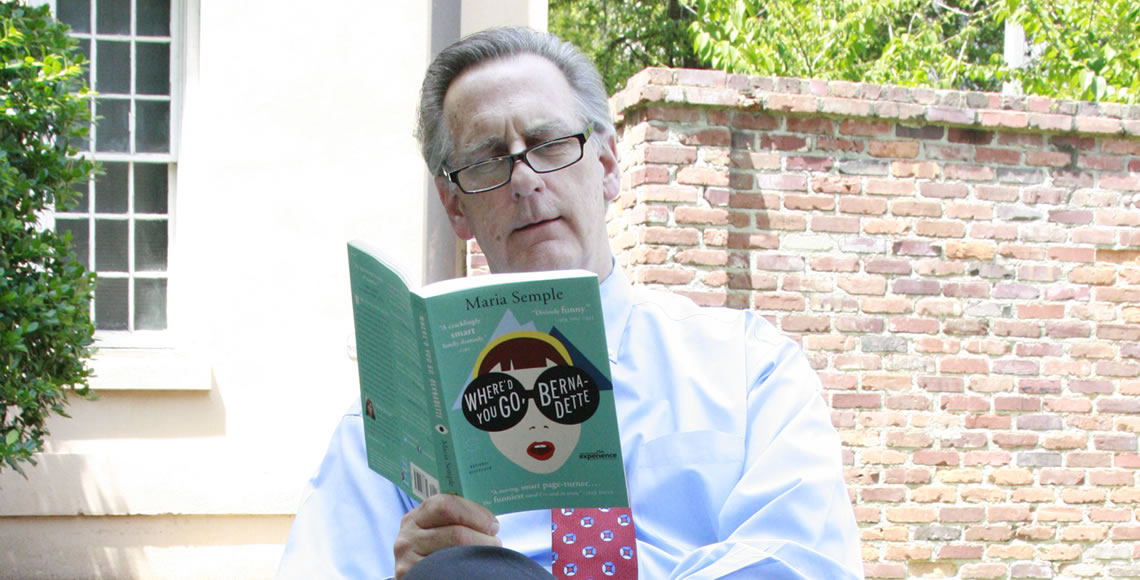 Dr. Dennis Pruitt reading Where'd You Go Bernadette