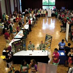 job fair in the ballroom