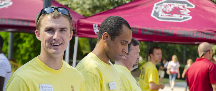 USC Admissions Staff at an Open House Event