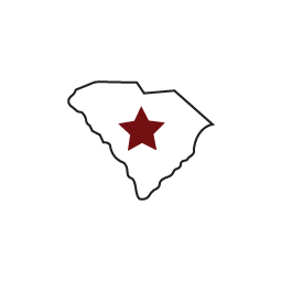 State icon with garnet star over Columbia
