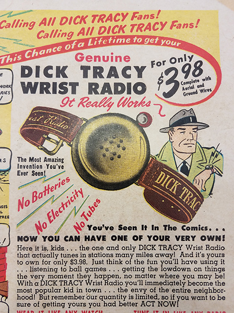 Dick Tracy watch ad