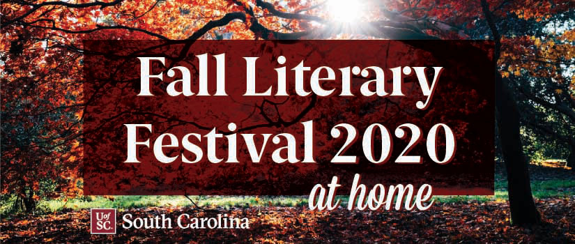 Fall foliage with banner for festival