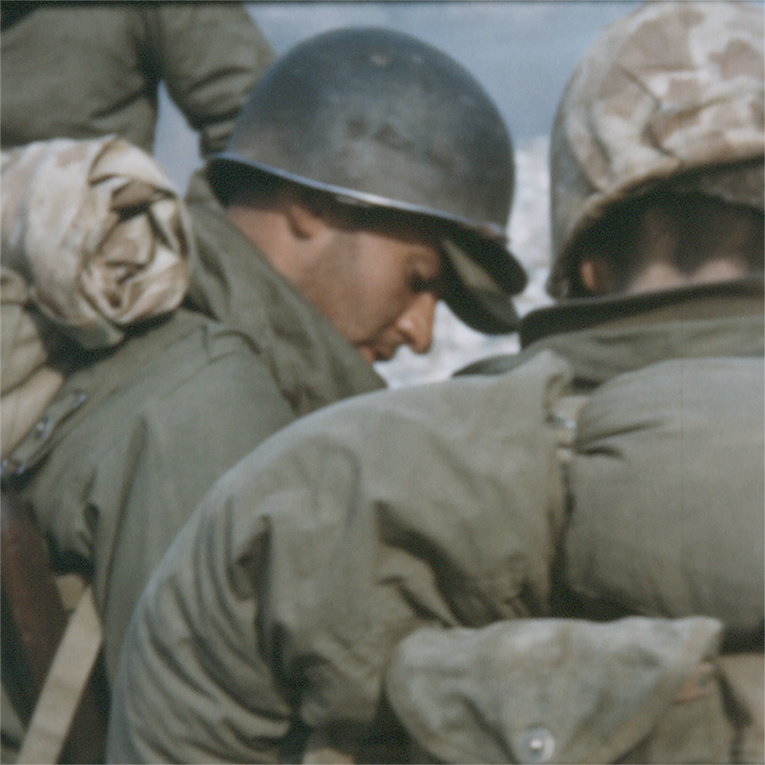 World War two soliders still shot from U.S. Marine Corps Film Collection