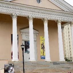 Front view of Longstreet Theatre on University of South Carolina campus
