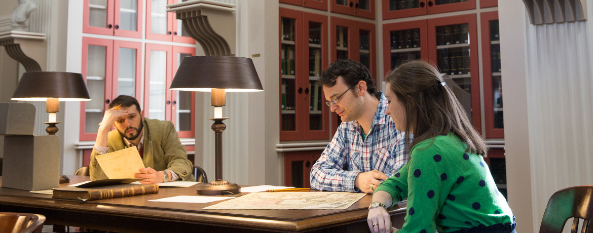 students studying together at the South Caroliniana Library