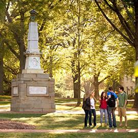 students on the horseshoe