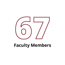 Infographic: 67 Faculty Members