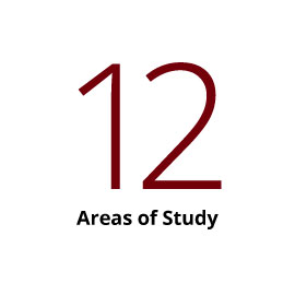 Infographic: 12 Areas of Study