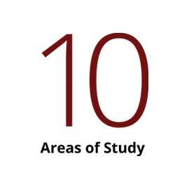 Infographic: 10 areas of study