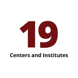 Infographic: 19 centers and institutes