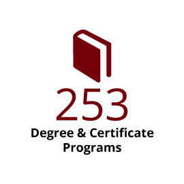 Infographic: 253 degree & certificate programs