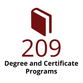 Infographic: 209 degree & certificate programs