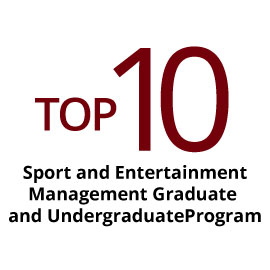 infographic: Top 10 sport and entertainment management graduate program