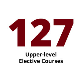 Infographic: 127 Upper-level Elective Courses