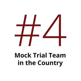 Infographic: #4 mock trial team in the country