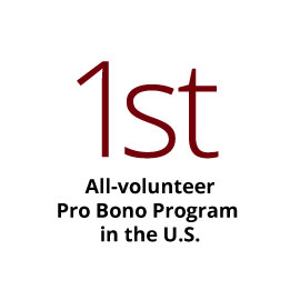 Infographic: First all-volunteer pro bono program in the nation