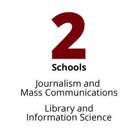 Infographic: 2 Schools: Journalism and Mass Communications, Library and Information Science