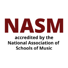 Infographic: accredited by the National Association of Schools of Music (NASM)