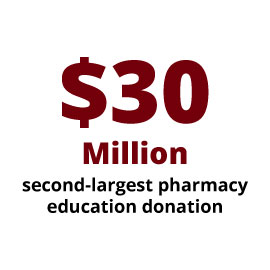 Infographic: $30 million: second largest pharmacy education donation