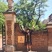 graduation photo on the horseshoe