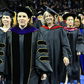 faculty in academic regalia