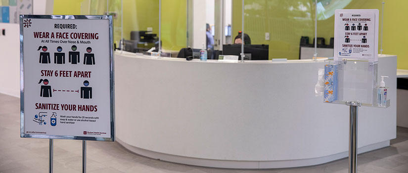 Center for Health and Wellbeing welcome desk