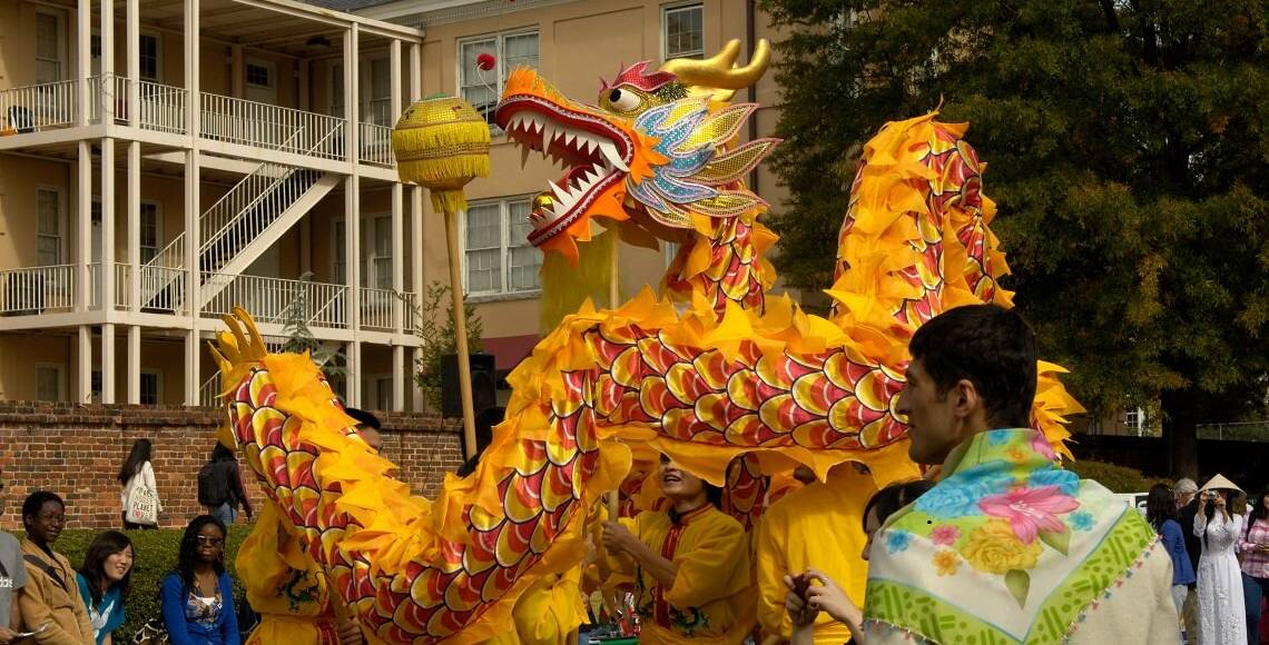 Chinese dragon celebration