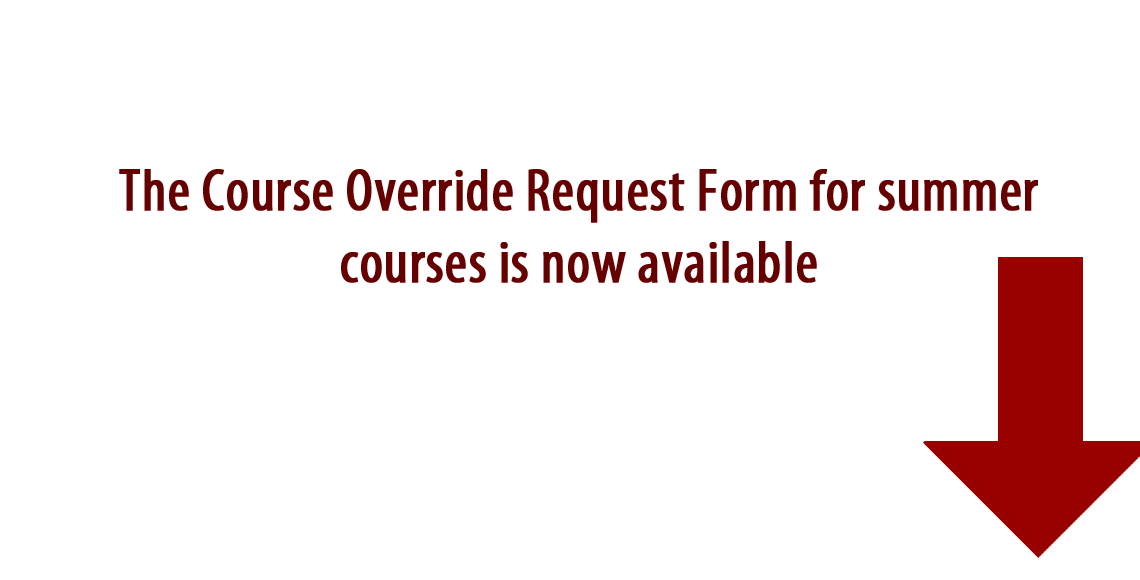 Override Request availability