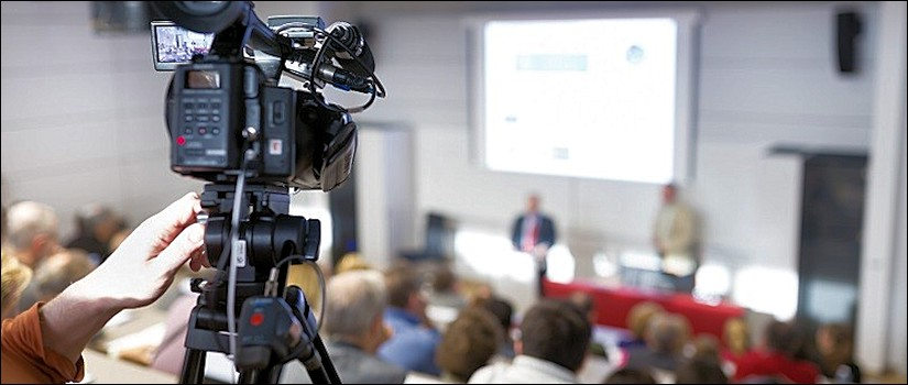 Image of camcorder recording classroom teaching
